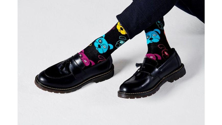 Happy Socks Unisex Socken Dog schwarz