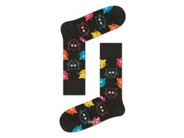 Happy Socks Unisex Socken Cat schwarz