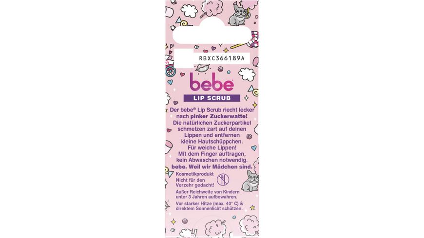 bebe Lip Scrub Pink Sugar Cotton Candy