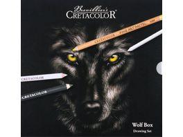 CRETACOLOR Wolf Box 25 teiliges Zeichen Set im Metalletui