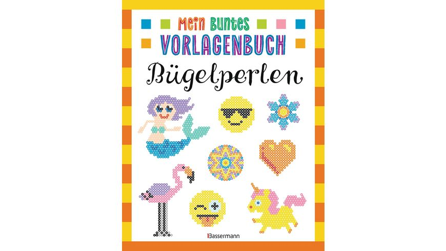 Mein buntes Vorlagenbuch Buegelperlen Ueber 200 Motive Von Affe bis Zwerg Mit Lama Einhorn und Emojis