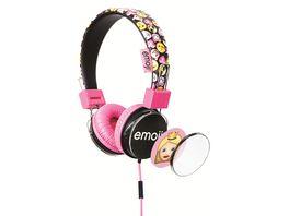 Emoji Kopfhoerer pink