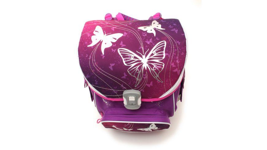 IN SCHOOL Basic Schulranzen Set 5teilig Schmetterling