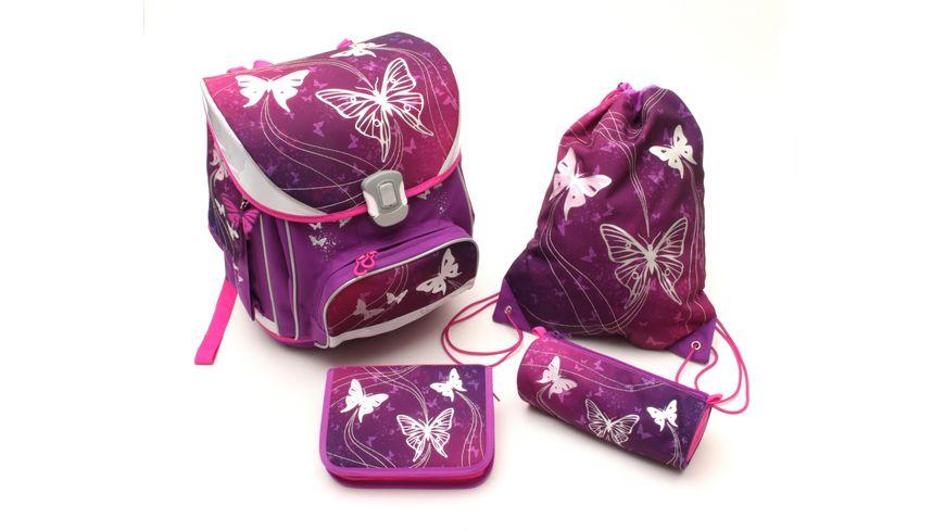 IN@SCHOOL Basic Schulranzen-Set 5teilig Schmetterling