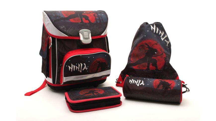 IN@SCHOOL Basic Schulranzen-Set 5teilig Ninja