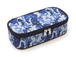 Schlamperbox XL CAMOUFLAGE blau weiss grau
