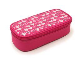 Schlamperbox Silberherzen rosa pink