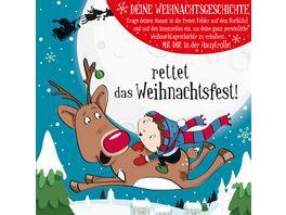 H H Namens Weihnachtsbuch blanko fuer Jungen Rettet Weihnachten Motiv