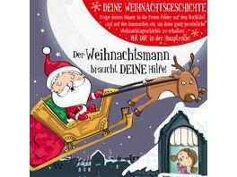 H H Namens Weihnachtsbuch blanko fuer Jungen Rettet Weihnachtsmann Motiv