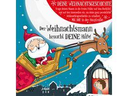 H H Namens Weihnachtsbuch blanko fuer Jungen Weihnachtsmann Motiv