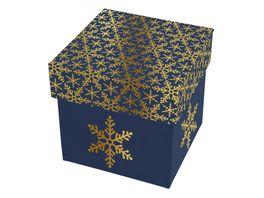 BRAUN COMPANY Kartonage klein Kristallin blau gold
