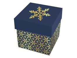 BRAUN COMPANY Kartonage gross Kristallin blau gold