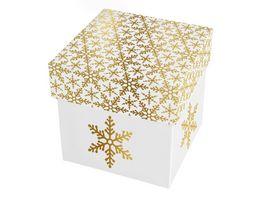BRAUN COMPANY Kartonage klein Kristallin weiss gold
