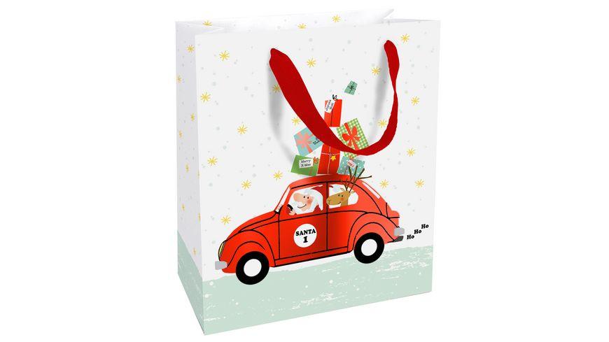 BRAUN COMPANY Geschenktuete mittel Santa s Car