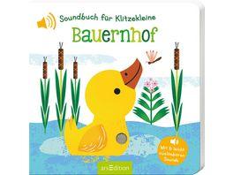 Soundbuch fuer Klitzekleine Bauernhof mit 6 leicht ausloesbaren Sounds