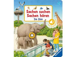 Sachen suchen Sachen hoeren Im Zoo