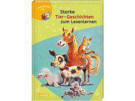 LESEMAUS zum Lesenlernen Sammelbaende Starke Tier Geschichten zum Lesenlernen