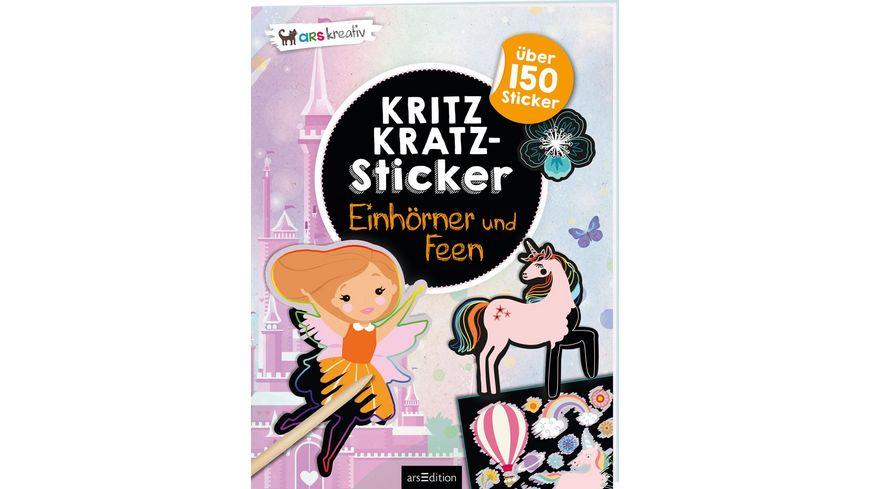 Kritzkratz Sticker Einhoerner und Feen Mit ueber 150 Stickern