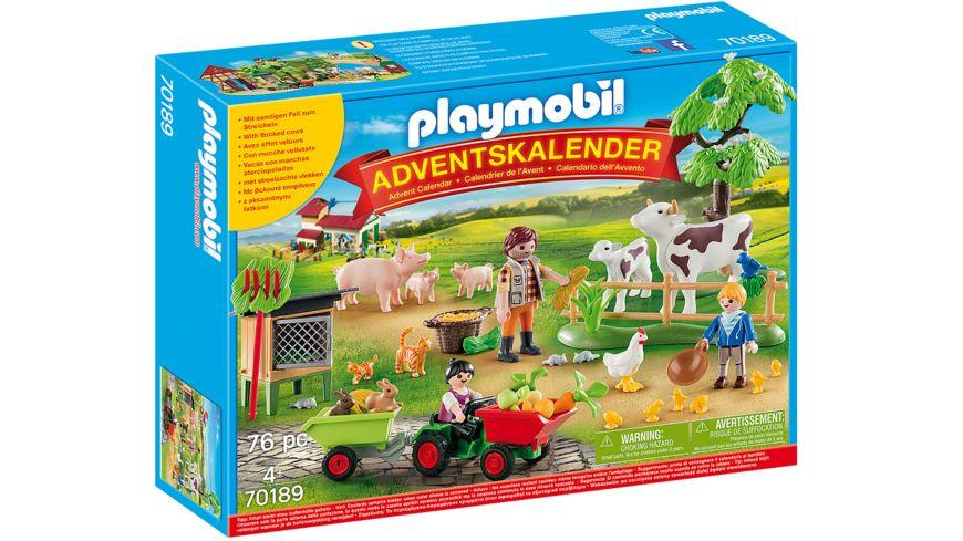 PLAYMOBIL 70189 Adventskalender Auf dem Bauernhof