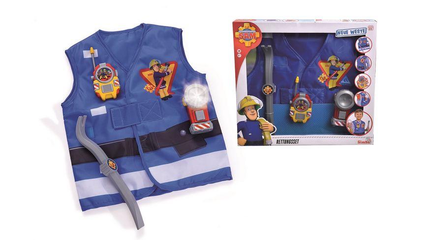 Simba Feuerwehrmann Sam Retteungsset mit Weste