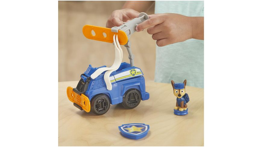 Hasbro Play Doh Paw Patrol Polizeihund Chase Spielzeug Polizeiauto mit Figur