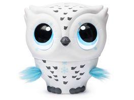 Spin Master Owleez fliegende interaktive Eule mit Licht und Soundeffekten weiss
