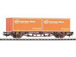 PIKO 58779 Containertragwagen 2x20 Container Gebrueder Weiss