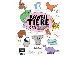 Kawaii Tiere 250 suesse Tierchen zeichnen Alle Anleitungen Schritt fuer Schritt