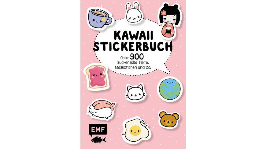 Kawaii Stickerbuch Ueber 900 zuckersuesse Tiere Maskottchen und Co