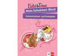 Bibi Tina Mein Schulstart Block Konzentrations und Denkspiele