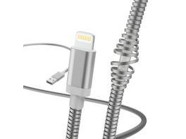 Hama Lade Datenkabel Metall Lightning 1 5 m Silber