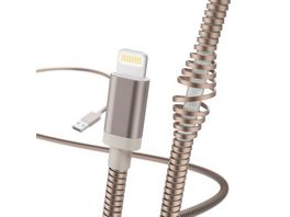 Lade Datenkabel Metall Lightning 1 5 m Rosegold