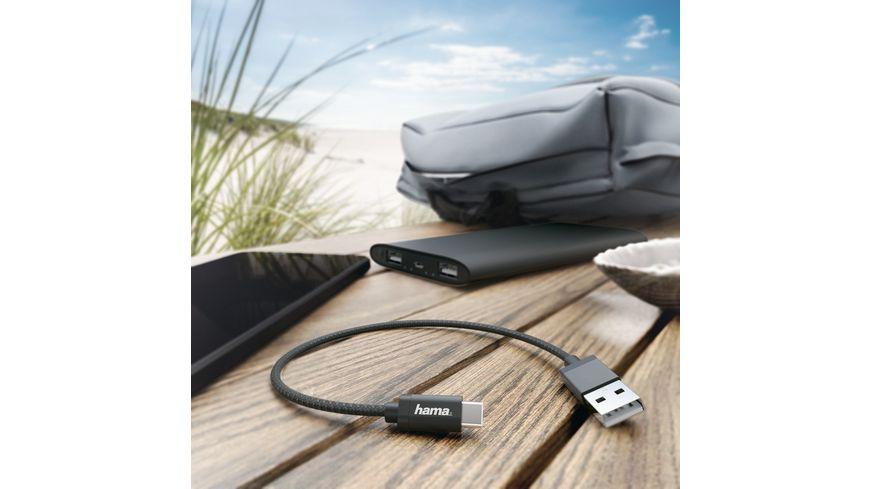 Lade Datenkabel USB Type C 0 2 m Schwarz