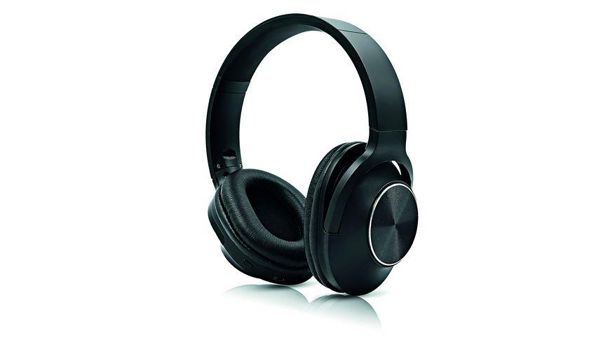 Soundlogic Bluetooth Kopfhoerer farblich sortiert schwarz silber