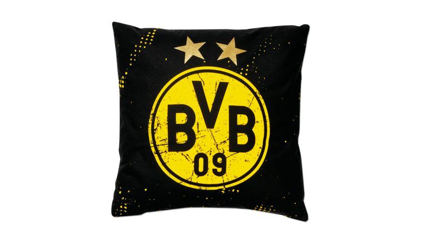 BVB Kissen Sterne 40x40cm