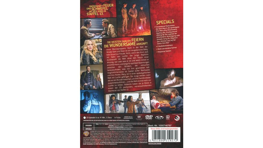 Supernatural Staffel 13 5 DVDs