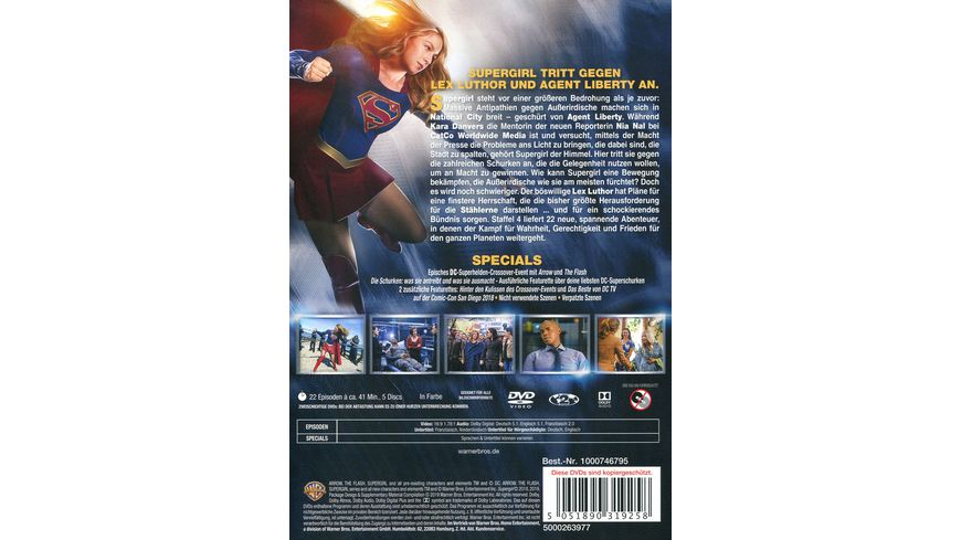 Supergirl Die komplette 4 Staffel 5 DVDs
