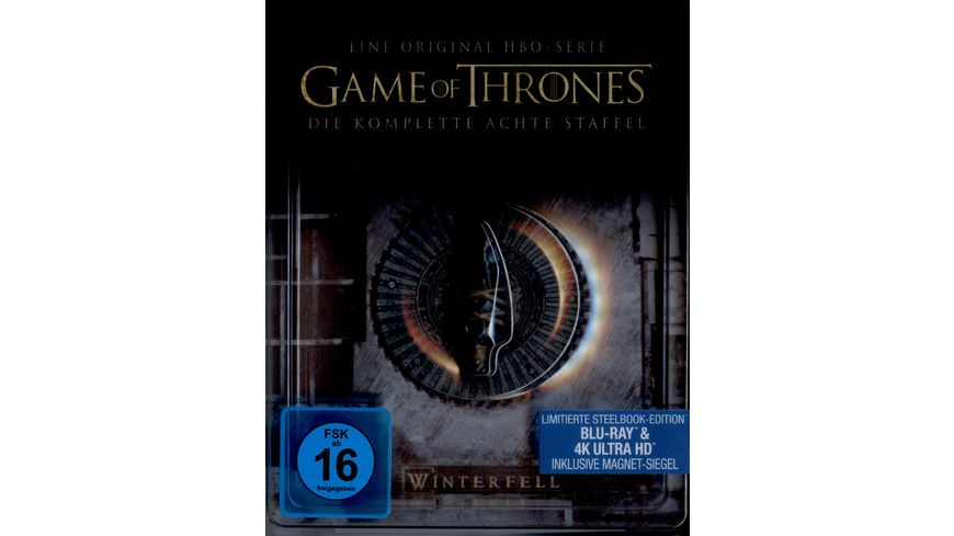Game of Thrones Staffel 8 Limited Steelbook Edition 3 Blu ray 4K Ultra HD 3 Blu ray 2D