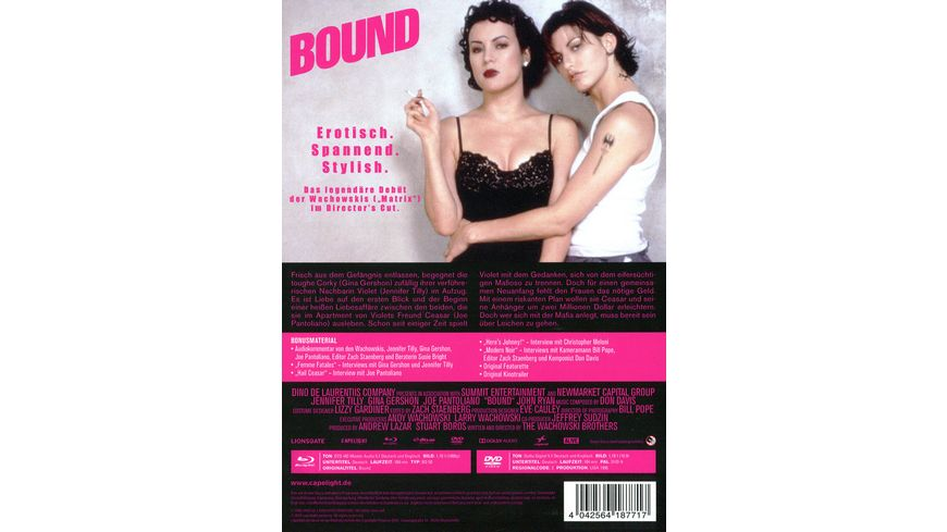 Bound Director s Cut 2 Disc Limited Collector s Edition im Mediabook Blu ray DVD