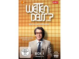 Wetten dass Wie alles begann Box 1 Shows 1 16 Fernsehjuwelen 8 DVDs