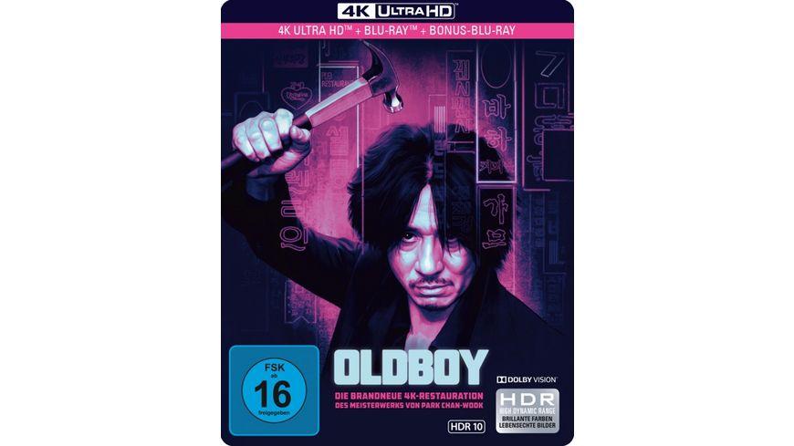 Oldboy Limited SteelBook 4K Ultra HD Blu ray 2D 2 Bonus Blu rays