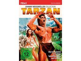 Tarzan Johnny Weissmueller Collection Alle 12 Tarzan Abenteuer mit Johnny Weissmueller in einer Sammlung Pidax Film Klassiker 6 DVDs