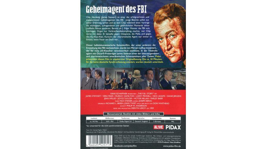 Geheimagent des FBI Spannender Agentenfilm in ungekuerzter Langfassung Pidax Film Klassiker