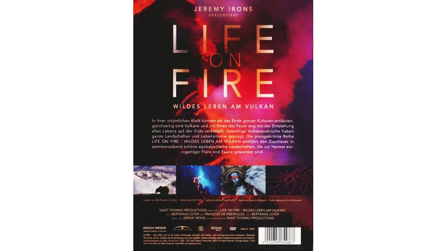 Life on Fire Wildes Leben am Vulkan 3 DVDs