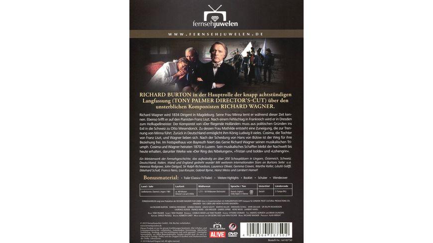 Wagner Das Leben und Werk Richard Wagners Die komplette Miniserie 3 DVDs Fernsehjuwelen