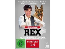 Kommissar Rex Moser Komplettbox Alle 4 Staffeln mit Tobias Moretti 12 DVDs Fernsehjuwelen