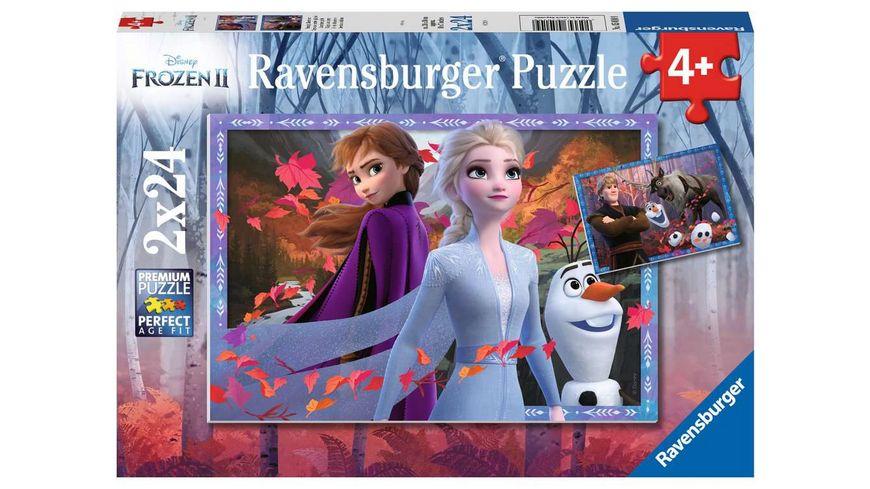 Ravensburger Puzzle Frozen Frostige Abenteuer 2x24 Teile