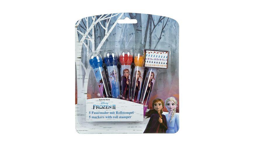 Undercover Frozen II 5 Fasermaler mit Rollstempel