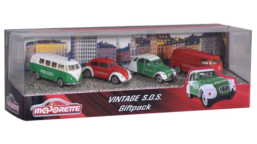 Majorette Vintage SOS 4 pieces Giftpack