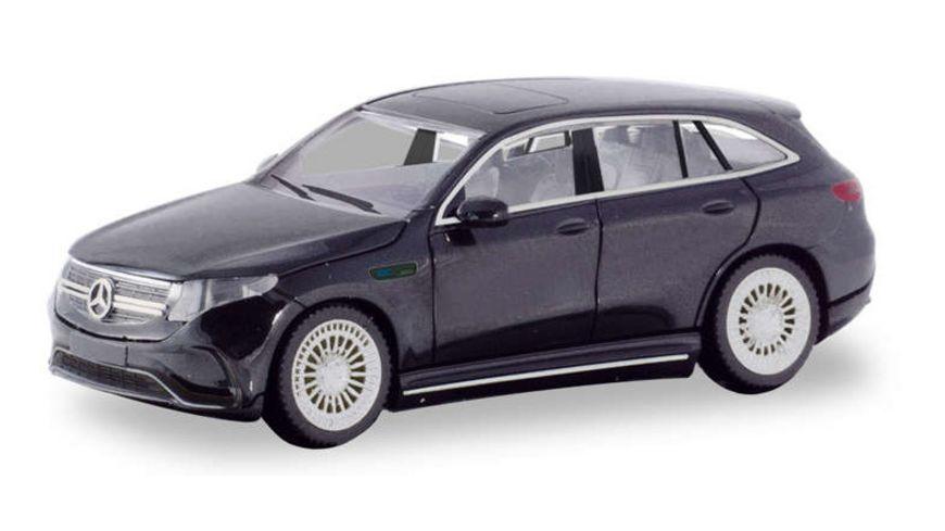 Herpa 420426 Mercedes Benz EQC AMG polarweiss erstes Elektro SUV von Mercedes Benz